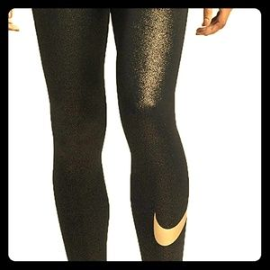 Nike Pro Cool Metallic Leggings MEDIUM